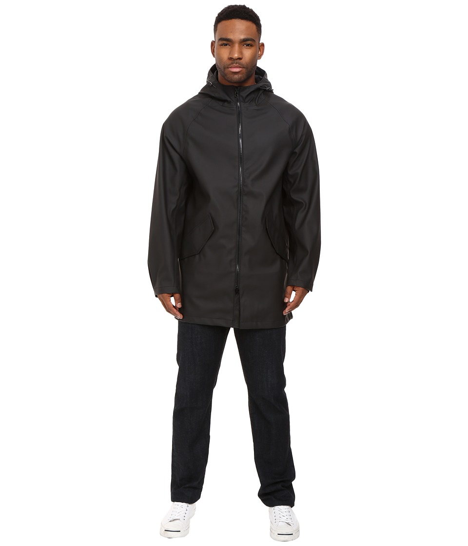 Converse - Rubber Fishtail Parka (Black) Men's Coat
