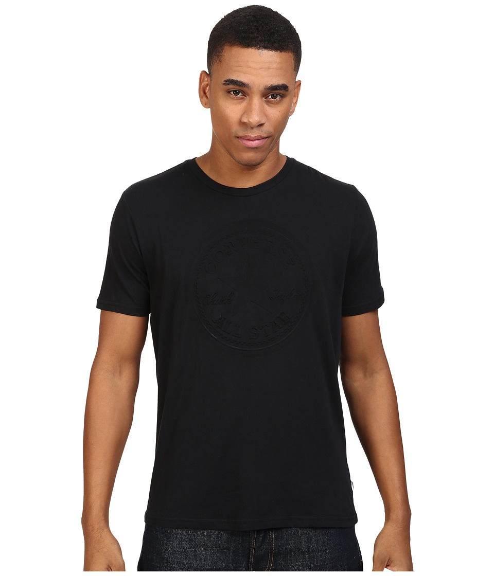 Converse - Embossed Short Sleeve Core Patch Crew Tee (Black) Men's T Shirt