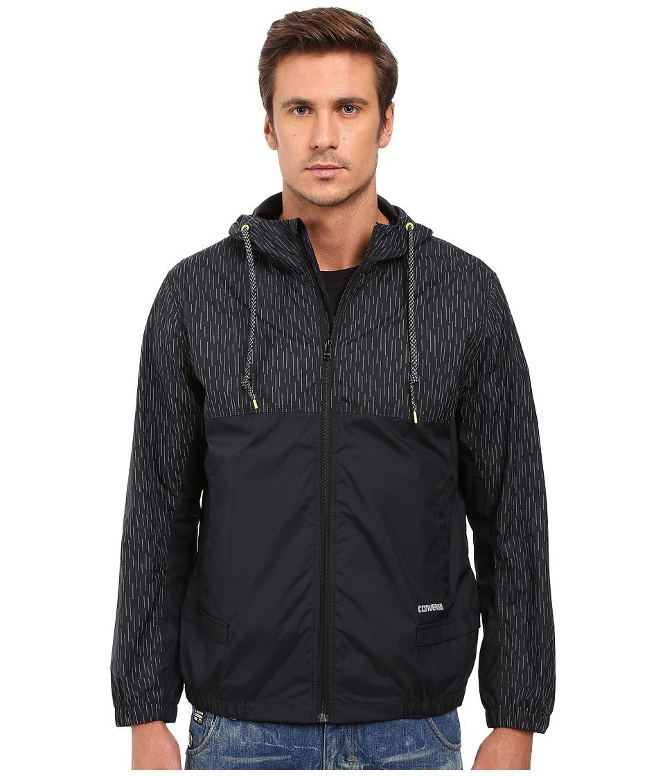 Converse - Reflective Print Packable Windbreaker (Black) Men's Coat