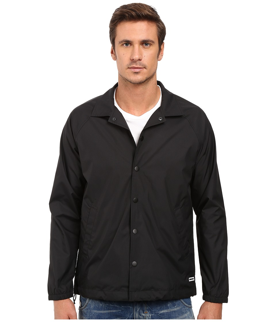 Converse - Rip Stop Coaches Jacket (Black) Men's Coat