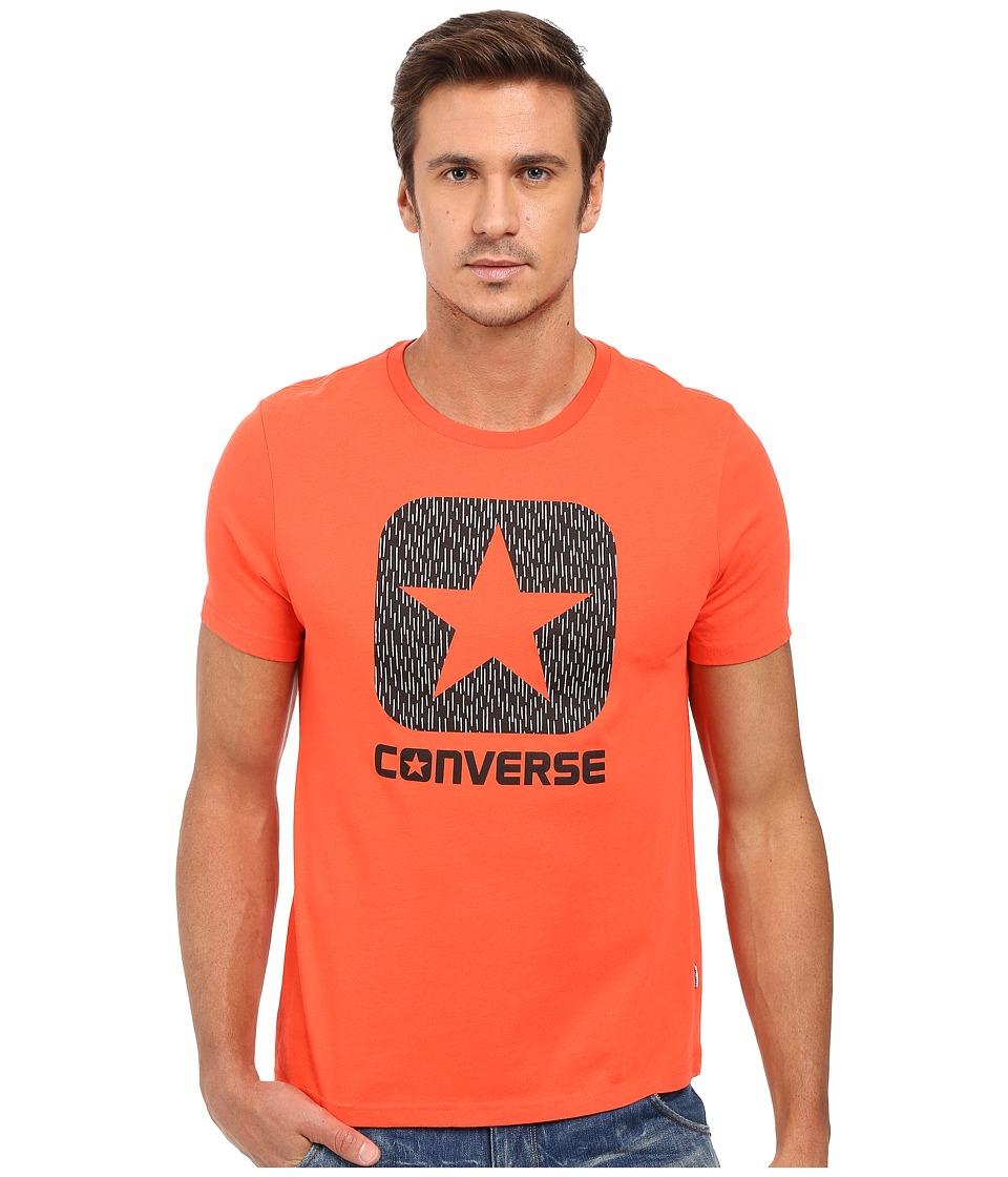 Converse - Reflective Rain Box Star Tee (Lava) Men's T Shirt