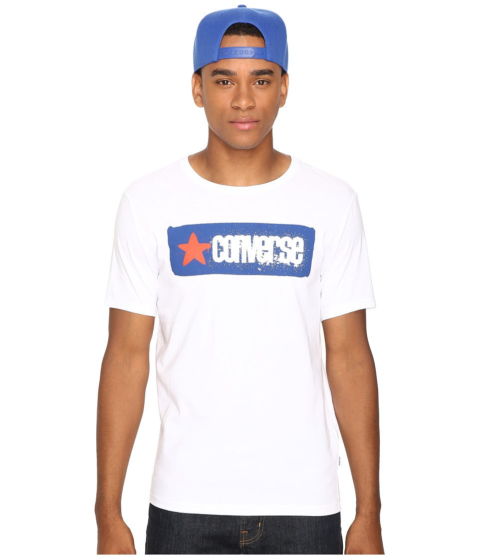 Converse - Stencil Wordmark Short Sleeve Tee (White) Men's T Shirt