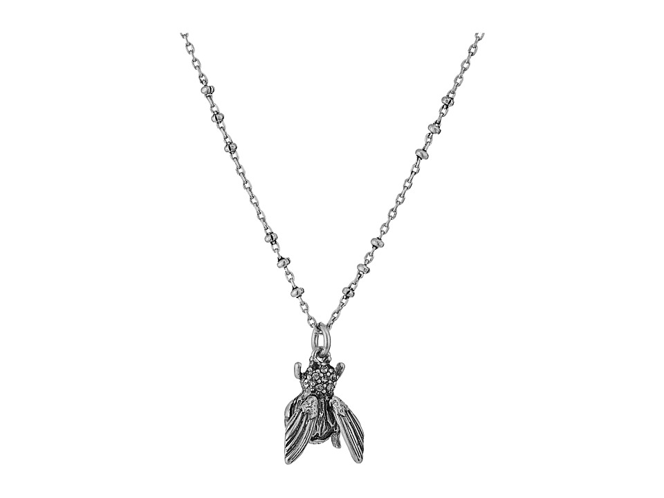 Marc Jacobs - Charms Beetle Pendant Necklace (Crystal/Antique Silver) Necklace