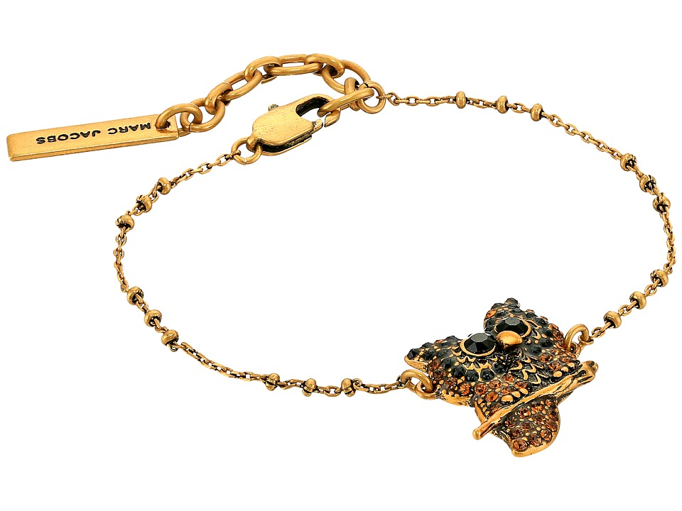 Marc Jacobs - Charms Owl Bracelet (Jet Multi/Antique Gold) Bracelet