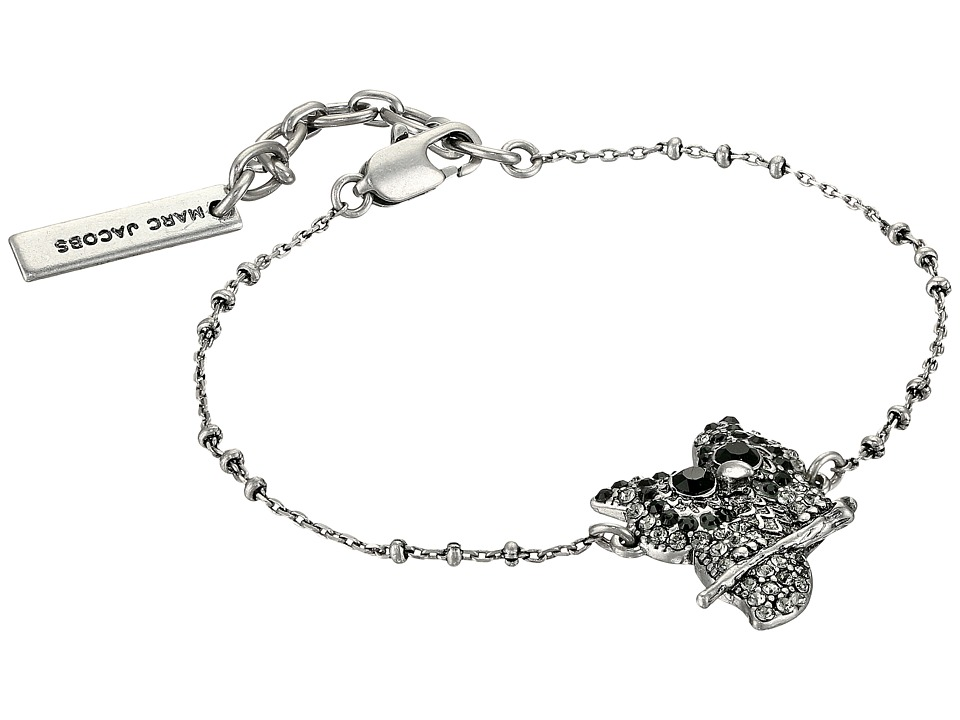 Marc Jacobs - Charms Owl Bracelet (Jet Multi/Antique Silver) Bracelet