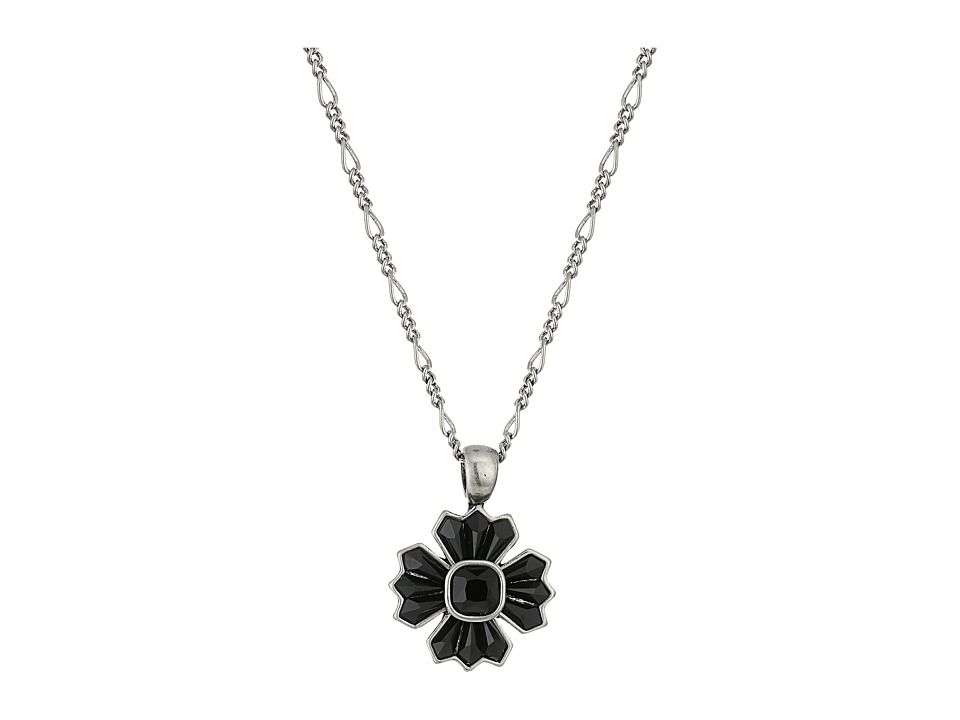 Marc Jacobs - Jet Night Pendant Necklace (Jet/Antique Silver) Necklace