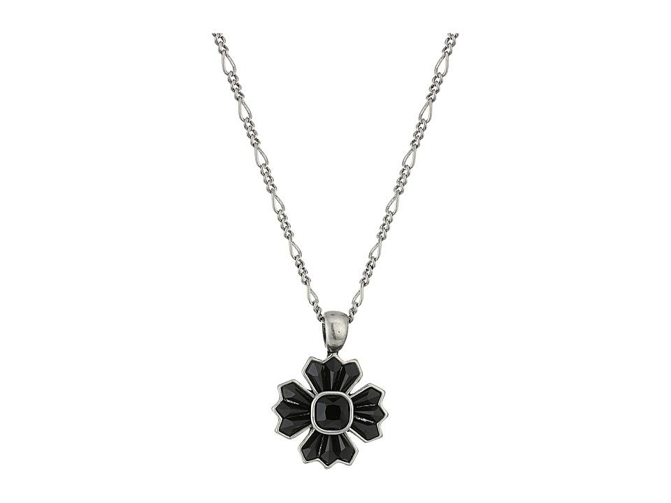 Marc Jacobs - Jet Night Pendant Necklace (Jet/Antique Silver) Necklace