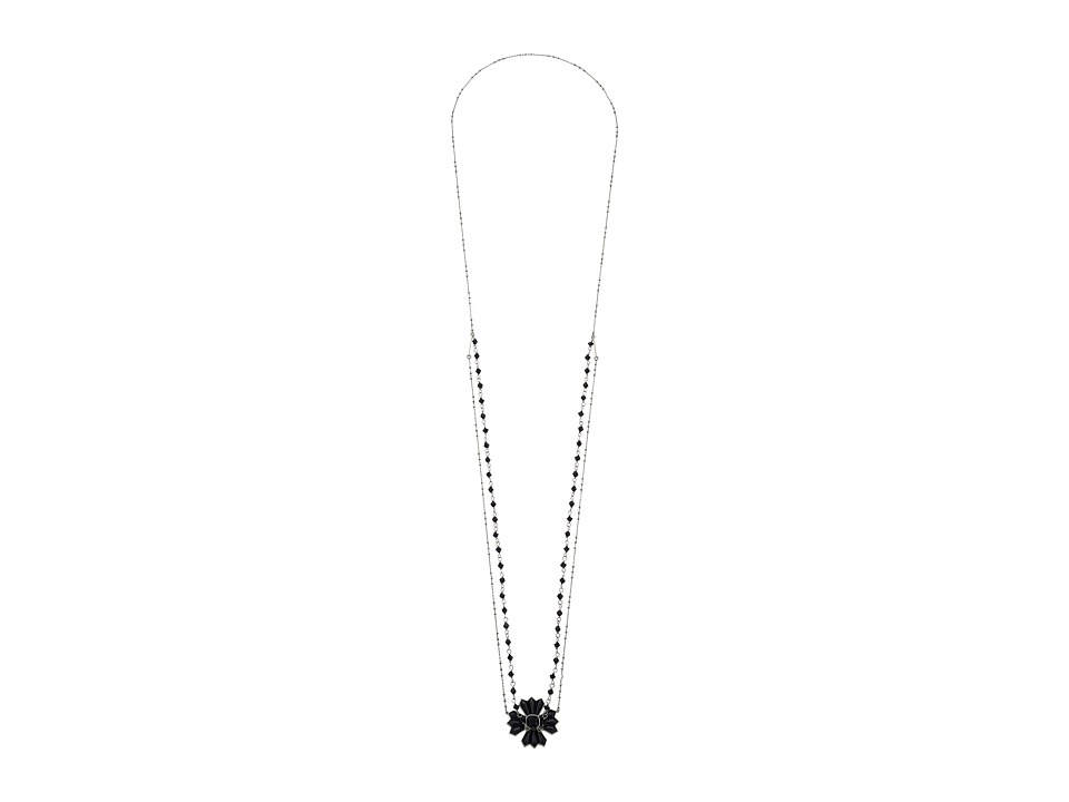 Marc Jacobs - Jet Night Layered Necklace (Jet/Antique Silver) Necklace