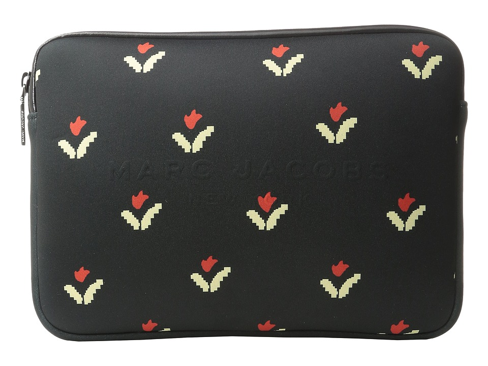 Marc Jacobs - Neoprene Tulip Print Tech Tablet Case (Black Multi) Wallet