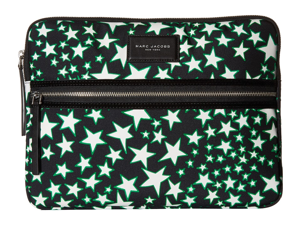 Marc Jacobs - Flocked Stars Printed Biker 13 Computer Case (Black Multi) Wallet