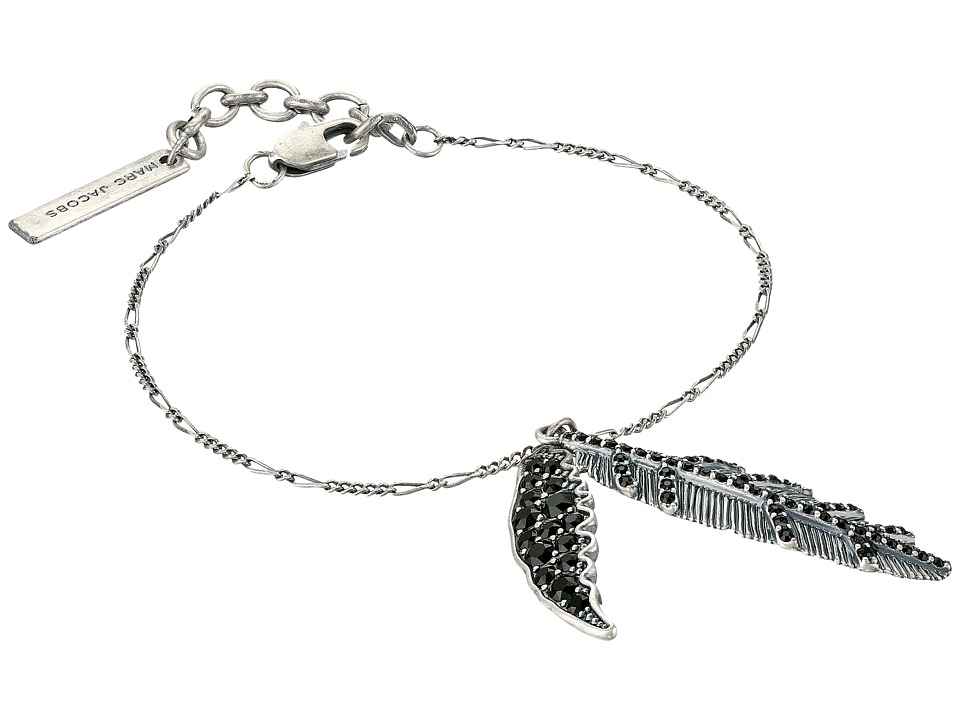 Marc Jacobs - Dark Plumes Chain Bracelet (Jet/Antique Silver) Bracelet