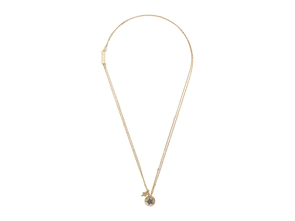 Marc Jacobs - MJ Coin Layered Pendant Necklace (Crystal/Gold) Necklace