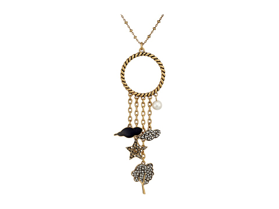 Marc Jacobs - Charms Tree Star Cluster Pendant Necklace (Crystal Multi/Antique Gold) Necklace