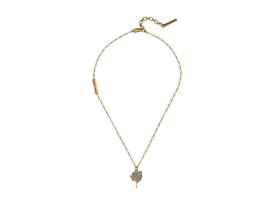 Marc Jacobs - Charms Tree Pendant Necklace (Crystal/Antique Gold) Necklace