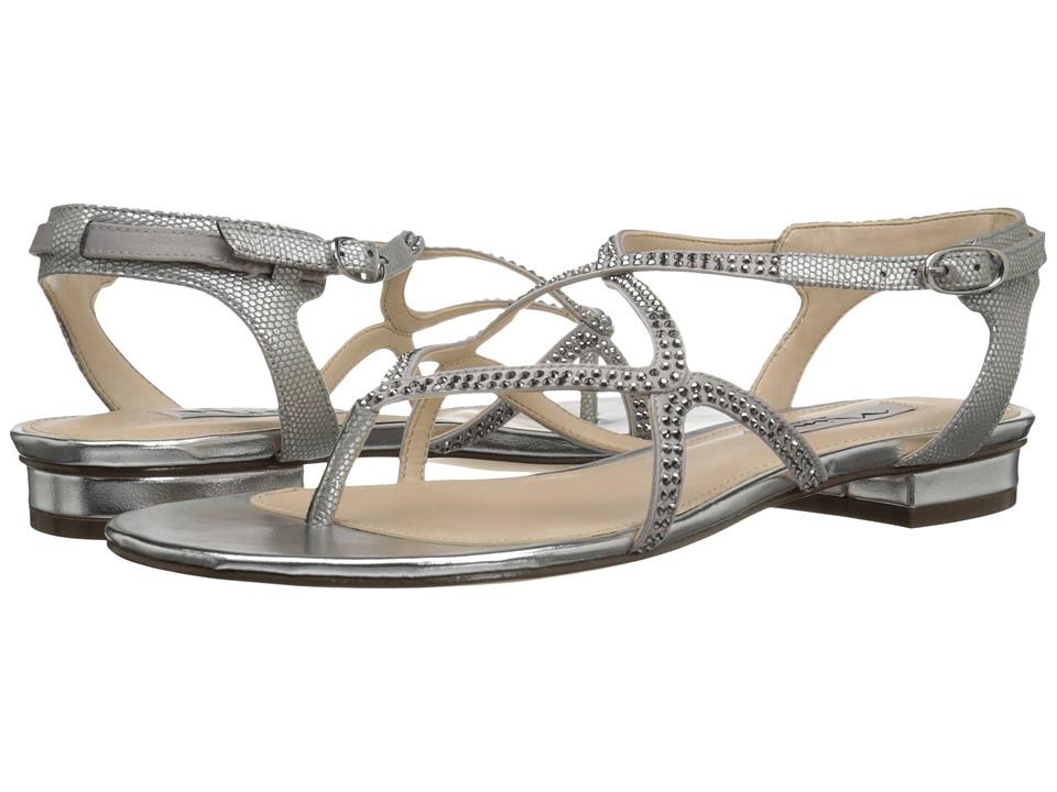 Nina - Kyerra (Sliver Metal/Royal Silver) Women's Sandals