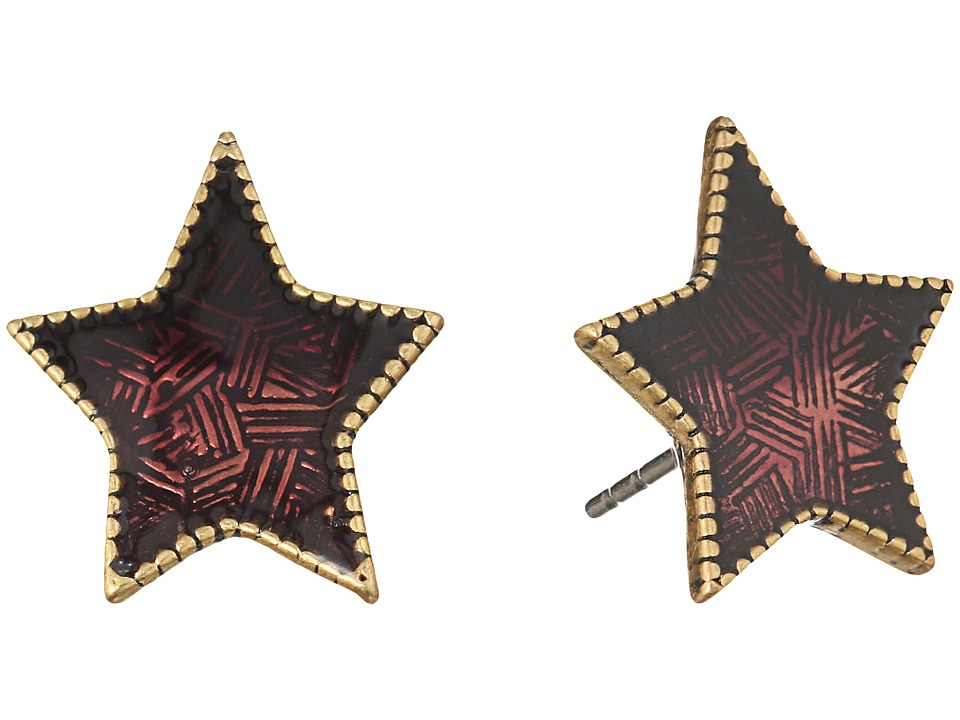 Marc Jacobs - Charms Enamel Star Studs Earrings (Berry) Earring
