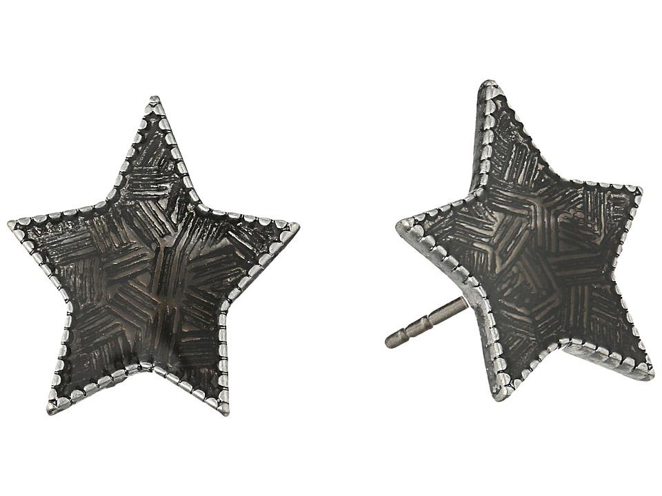 Marc Jacobs - Charms Enamel Star Studs Earrings (Black) Earring