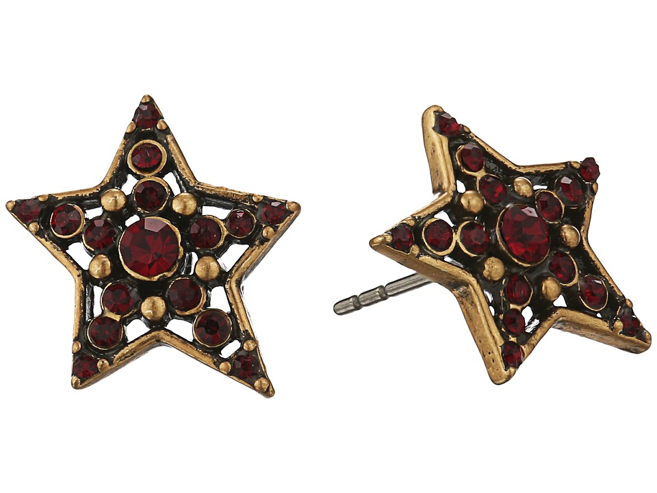 Marc Jacobs - Charms Pave Star Studs Earrings (Red) Earring