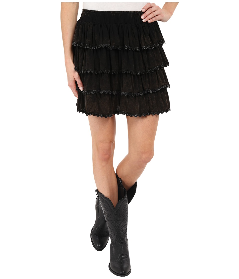 Rock and Roll Cowgirl - Skirt J4-6085 (Black) Women's Skirt