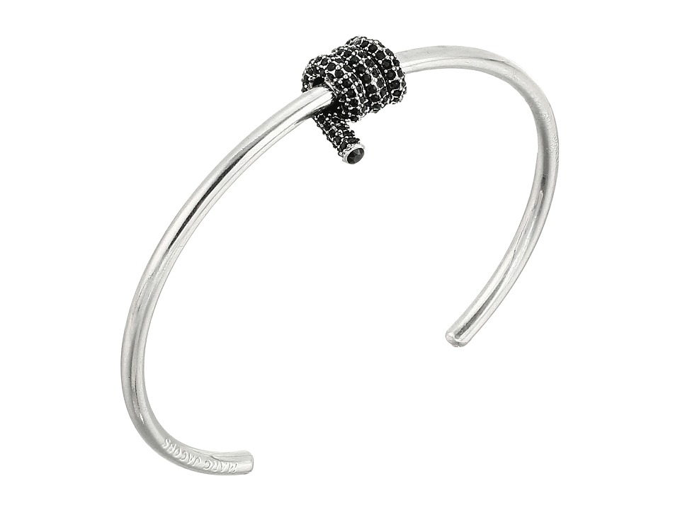 Marc Jacobs - Pave Twisted Cuff Bracelet (Jet/Antique Silver) Bracelet