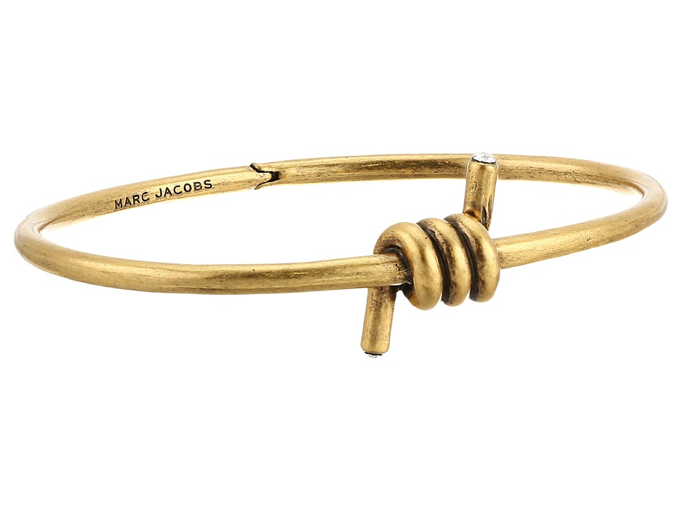 Marc Jacobs - Twisted Hinge Cuff Bracelet (Antique Gold) Bracelet