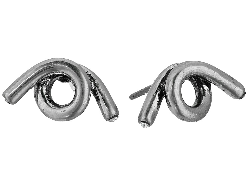 Marc Jacobs - Twisted Single Wrap Studs Earrings (Antique Silver) Earring