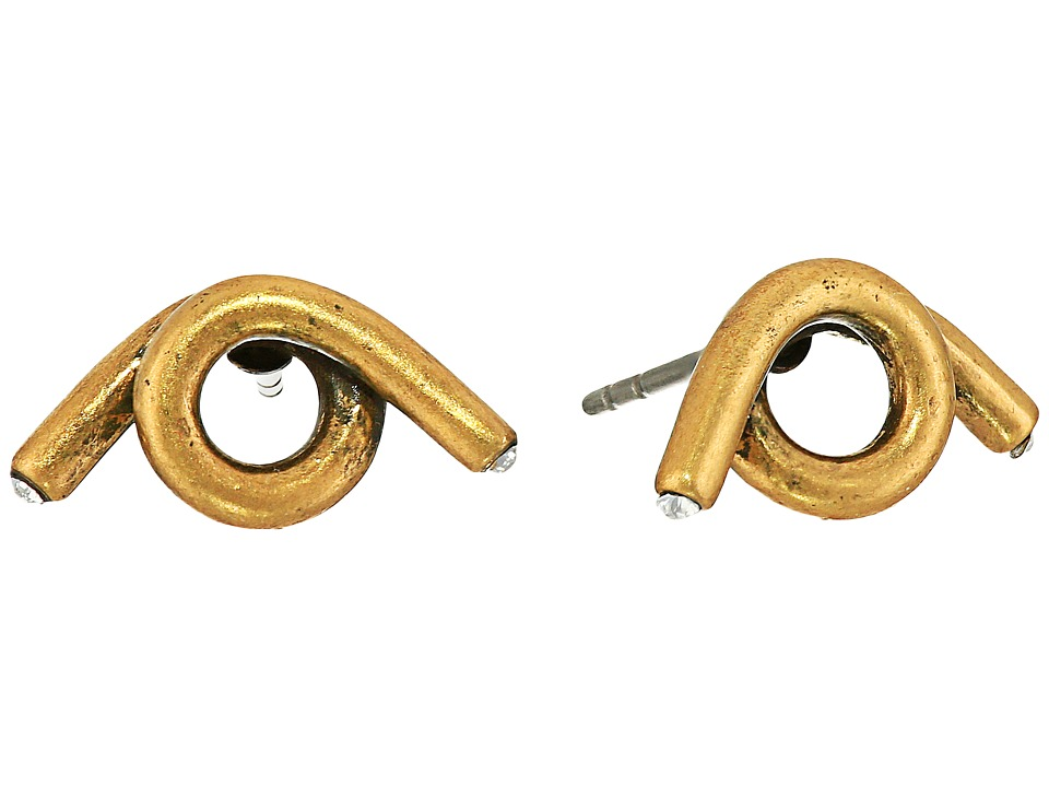 Marc Jacobs - Twisted Single Wrap Studs Earrings (Antique Gold) Earring