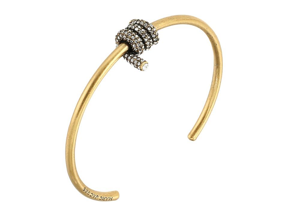 Marc Jacobs - Pave Twisted Cuff Bracelet (Jet/Antique Silver) Bracelet
