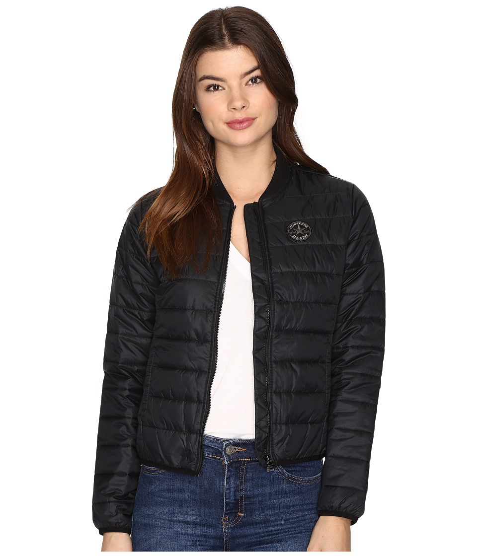 Converse - Core Packable MA-1 Bomber Jacket (Black) Women's Coat