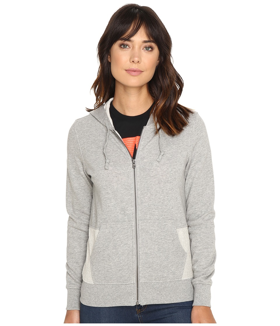 Converse - Metallic Full Zip Hoodie (Vintage Grey Heather) Women's Sweatshirt