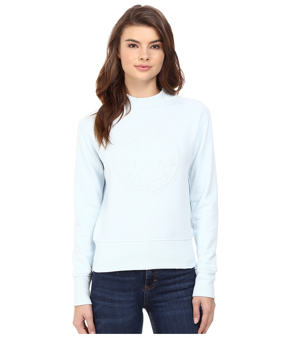 Converse - Embossed Chuck Patch Crew Fleece (Polar Blue) Women's Fleece