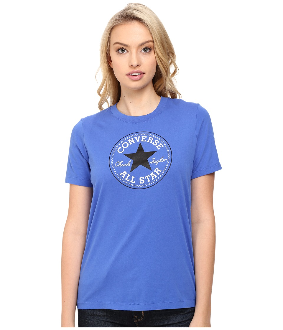 Converse - Core Solid Short Sleeve Core Patch Crew Tee (Oxygen Blue) Women's T Shirt