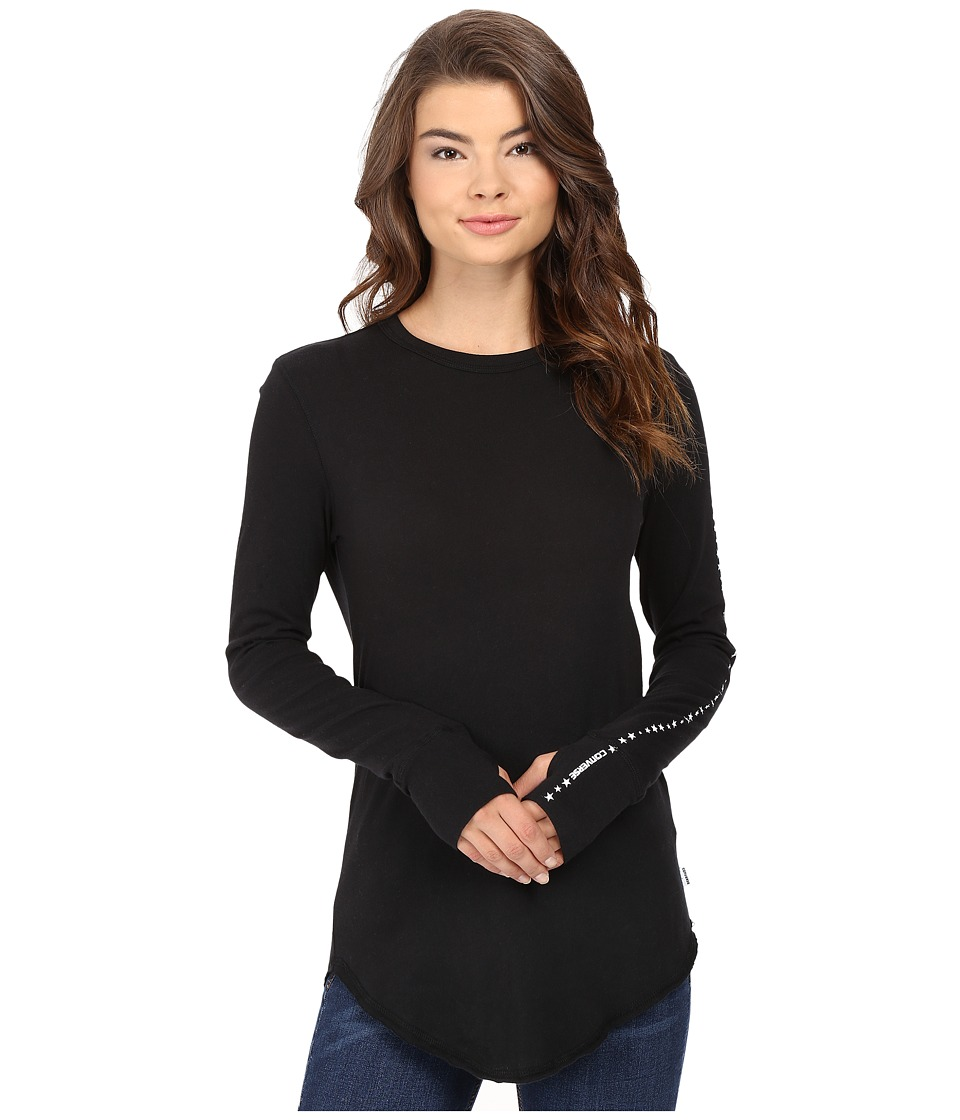 Converse - Workmark Star Long Sleeve Tee (Black) Women's T Shirt