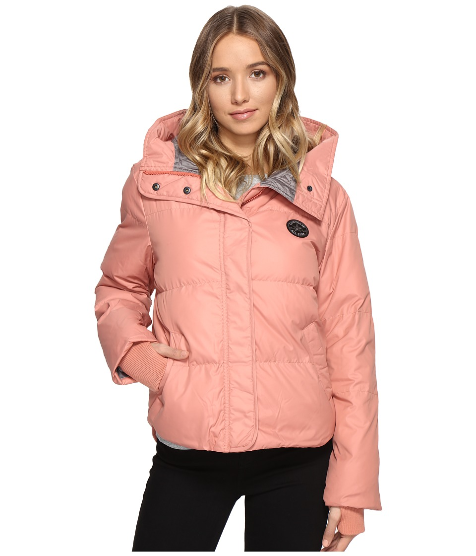 Converse - Core Mid-Length Puffer Jacket (Pink Blush) Women's Coat