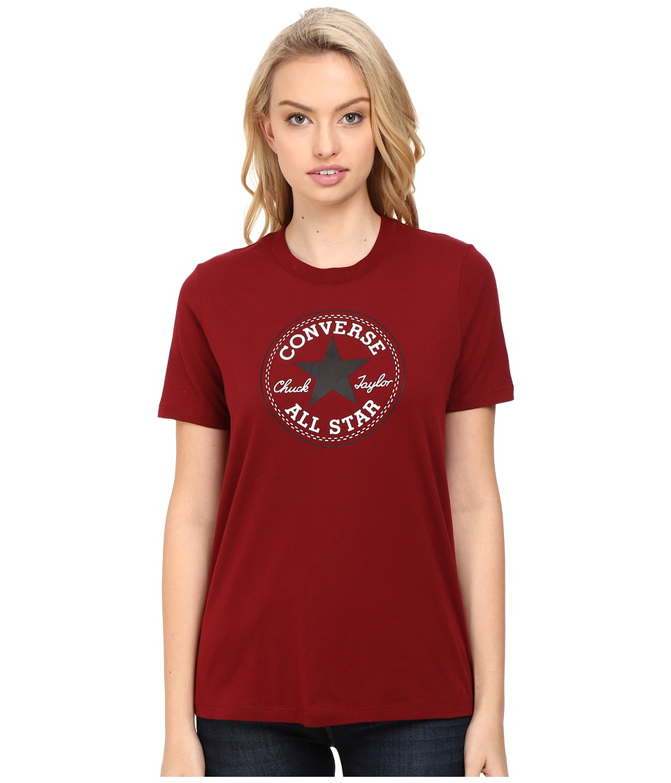 Converse - Core Solid Short Sleeve Core Patch Crew Tee (Red Block) Women's T Shirt