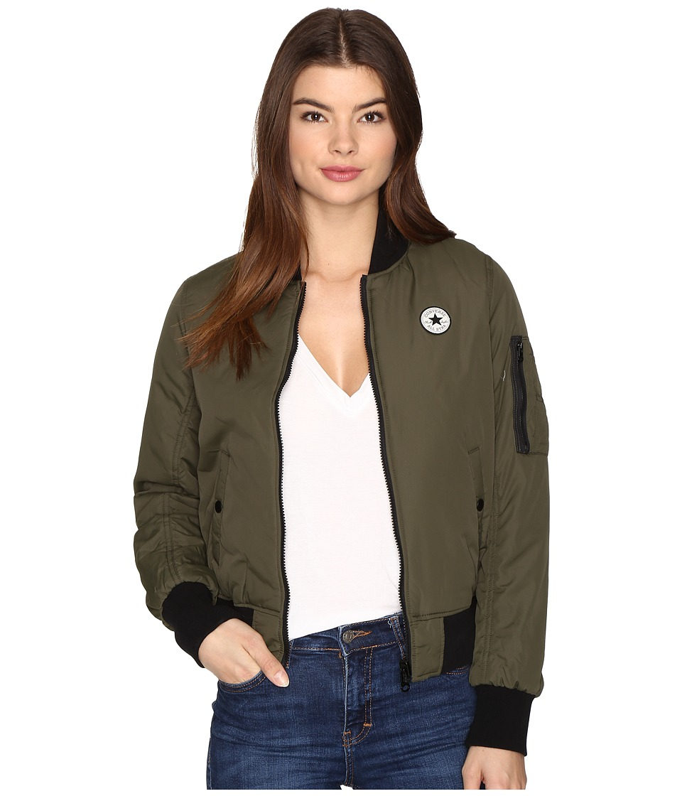 Converse - Core Reversible MA-1 Bomber Jacket (Herbal) Women's Coat