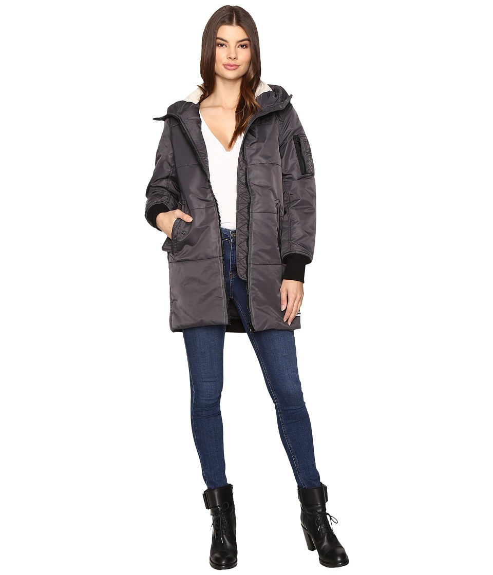 Converse - Nylon Long Puffer (Storm Wind) Women's Coat