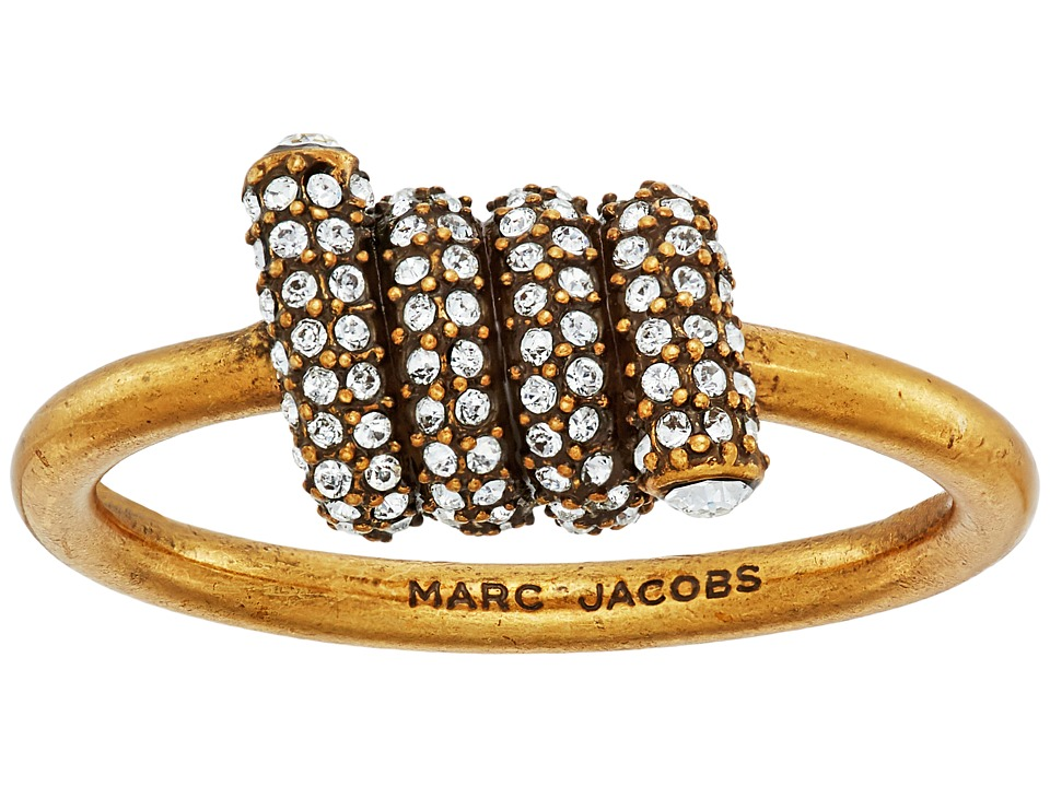 Marc Jacobs - Pave Twisted Ring (Crystal/Antique Gold) Ring