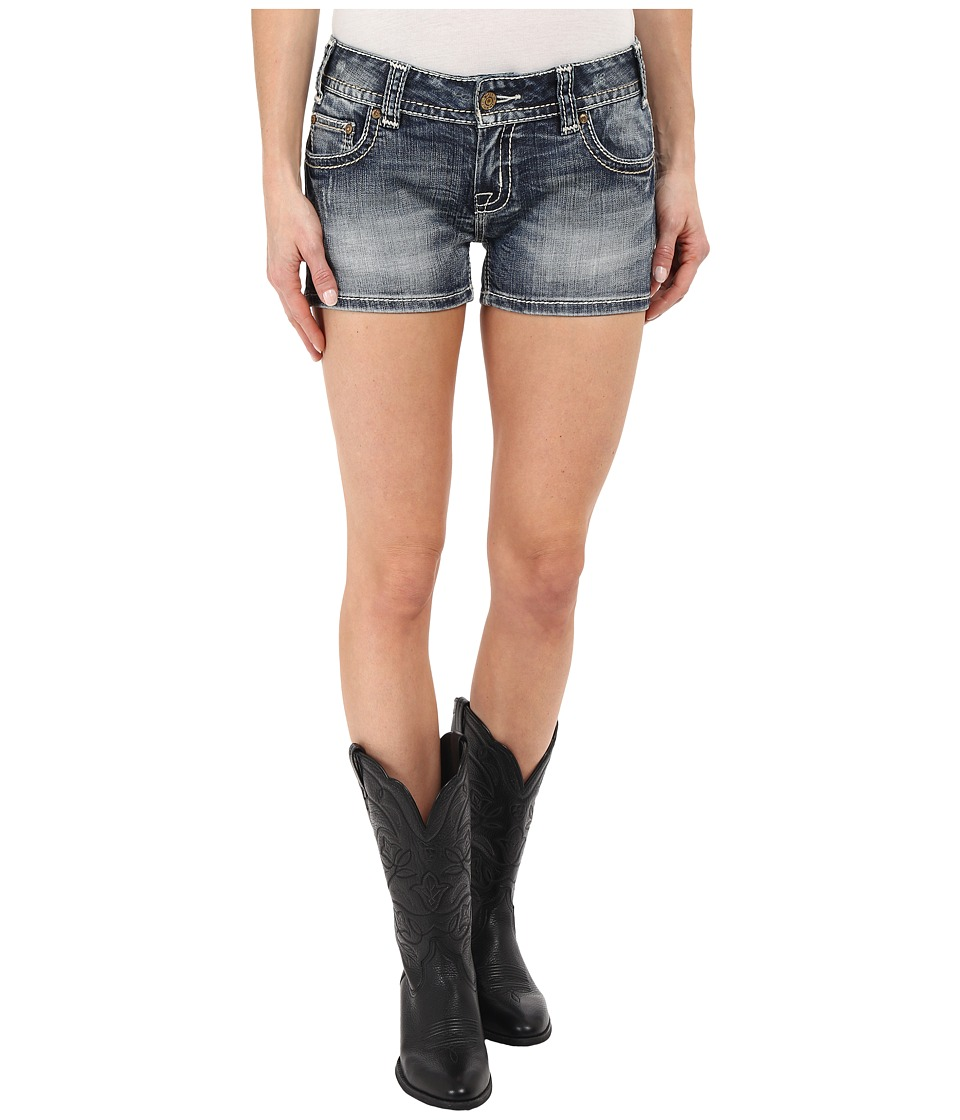 Rock and Roll Cowgirl - Denim Shorts in Medium Vintage (Medium Vintage) Women's Shorts