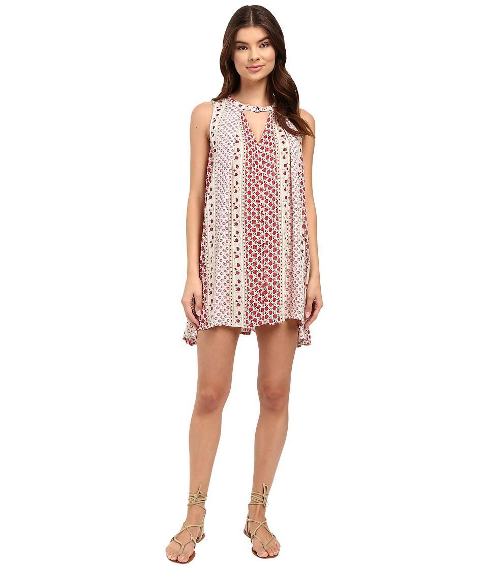Brigitte Bailey - Martina Floral Print Dress (Cream) Women's Dress
