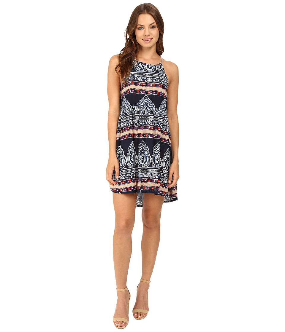 Brigitte Bailey - Ana Strappy Printed Dress (Navy) Women's Dress