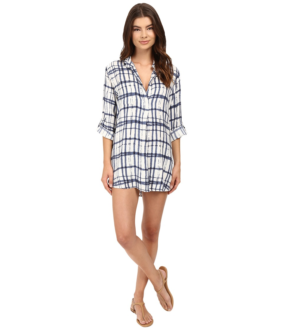 Brigitte Bailey - Jade Roll Up Sleeve Shirtdress (White) Women's Dress