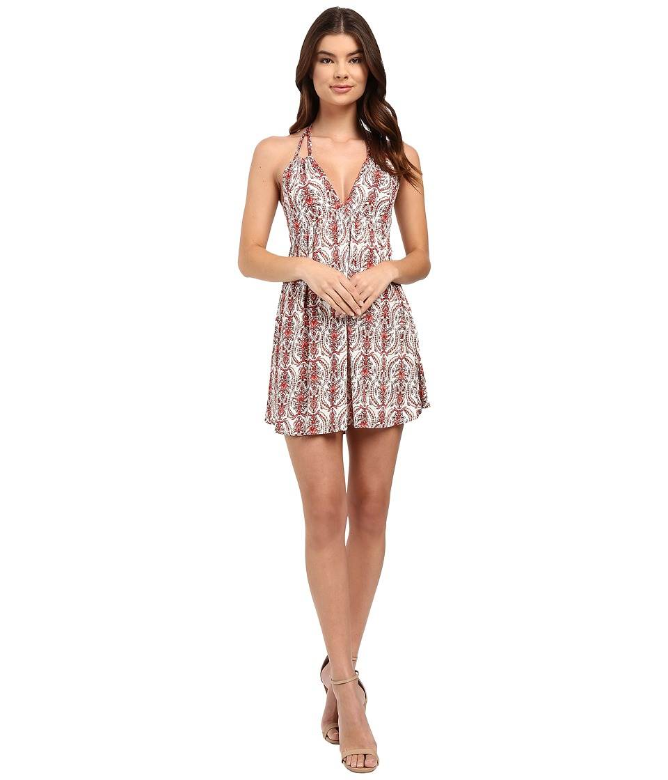 Brigitte Bailey - Giorgia Strappy Printed Dress (White) Women's Dress