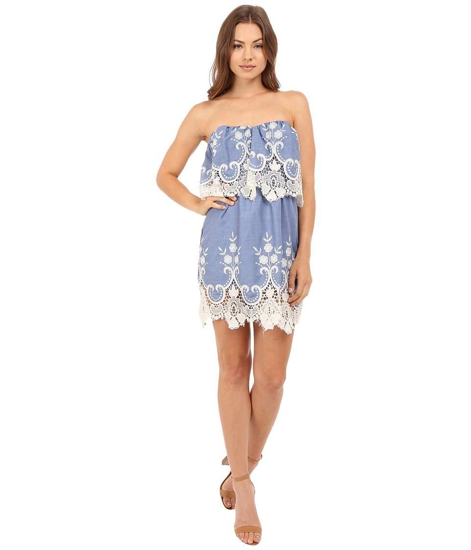Brigitte Bailey - Iona Strapless Dress (Denim) Women's Dress