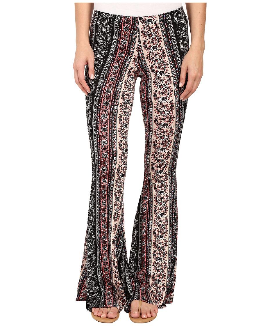 Brigitte Bailey - Trea Printed Bell-Bottom Pants (Black) Women's Casual Pants