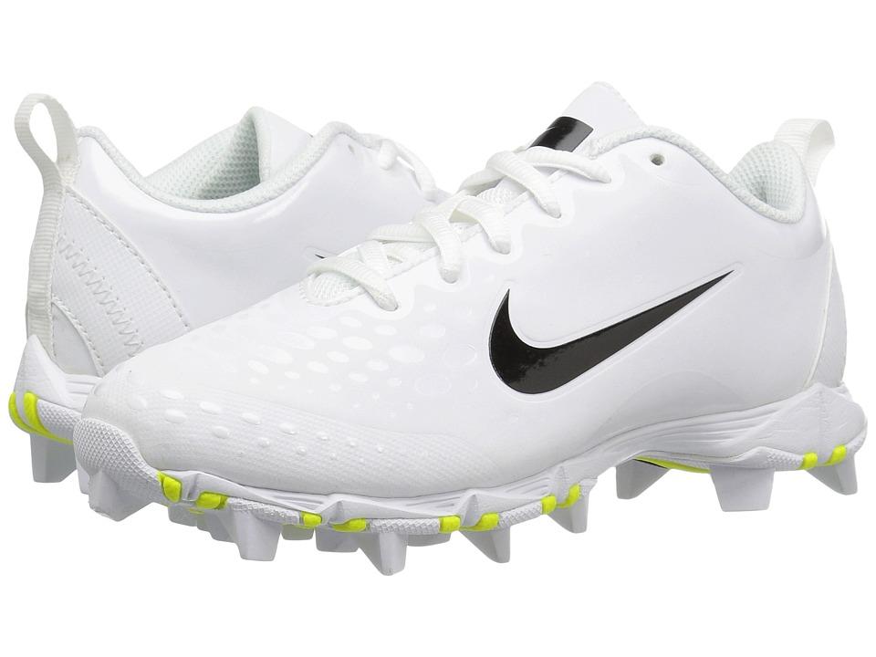 Nike Kids - Hyperdiamond 2 Keystone GG Baseball (Toddler/Little Kid/Big Kid) (White/Black) Kids Shoes