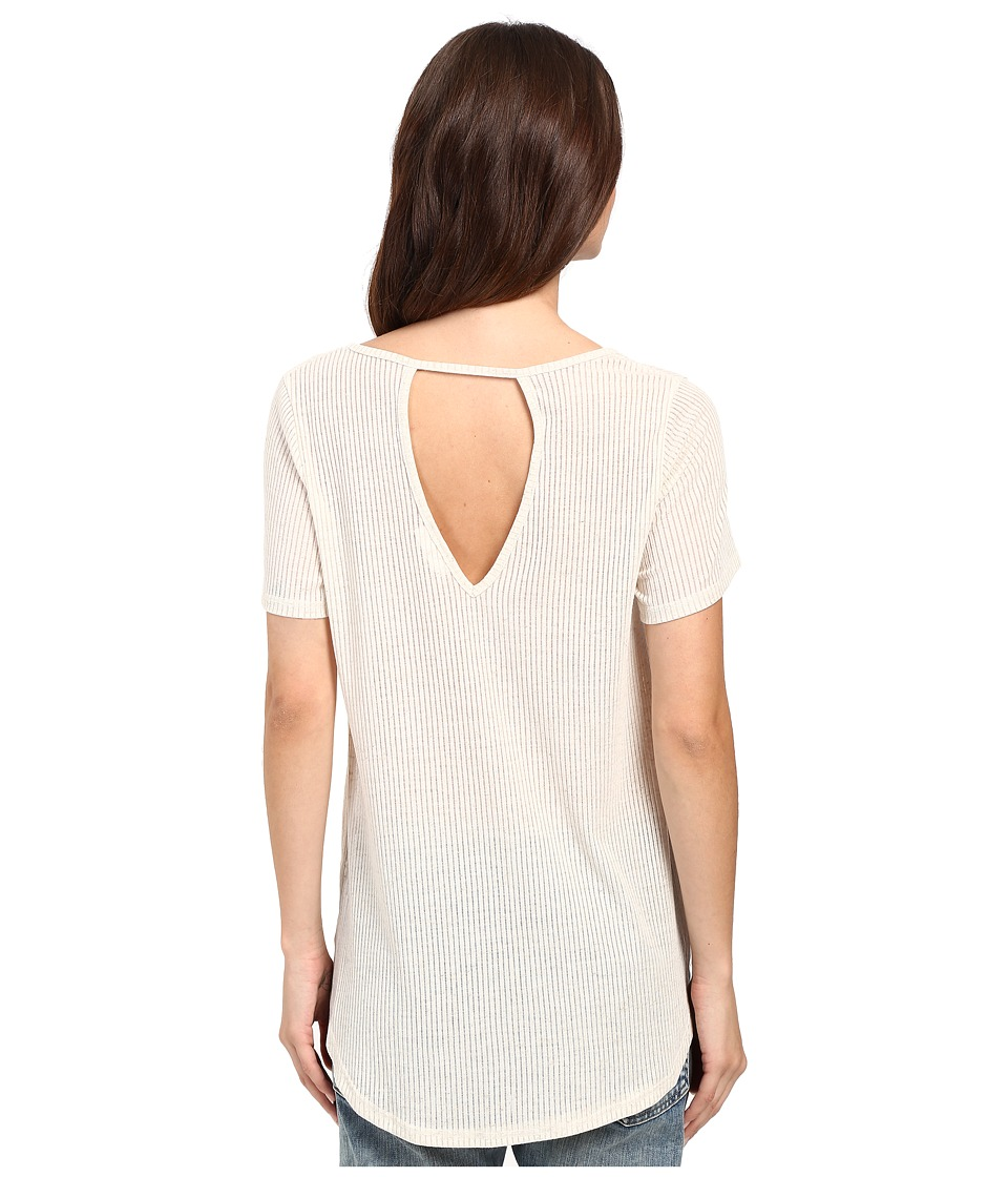 Culture Phit - Lilou Keyhole Back Top (Oatmeal) Women's Clothing