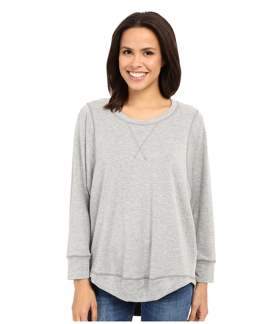 Culture Phit - Anika French Terry Long Sleeve Top (Heather Grey) Women's Clothing