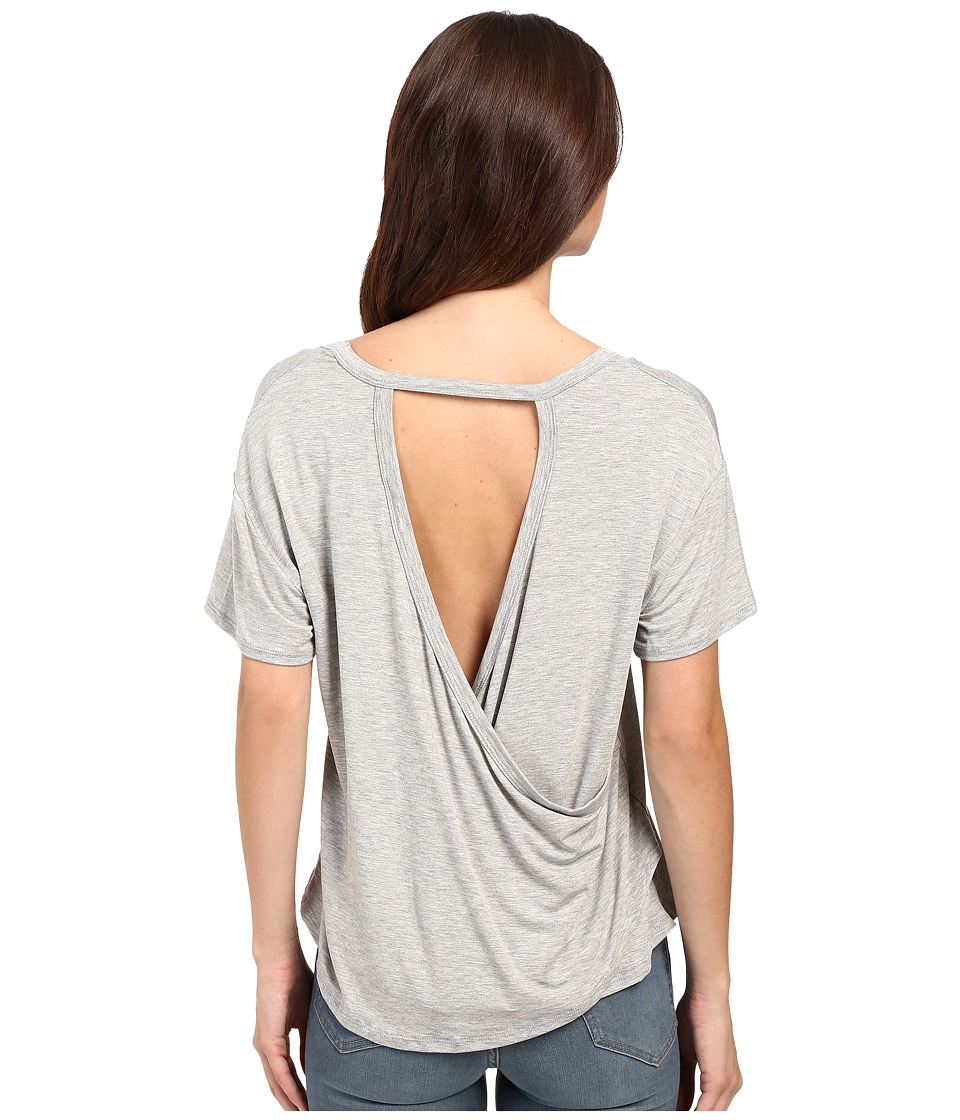Culture Phit - Kalindi Open Back Top (Heather Grey) Women's Clothing