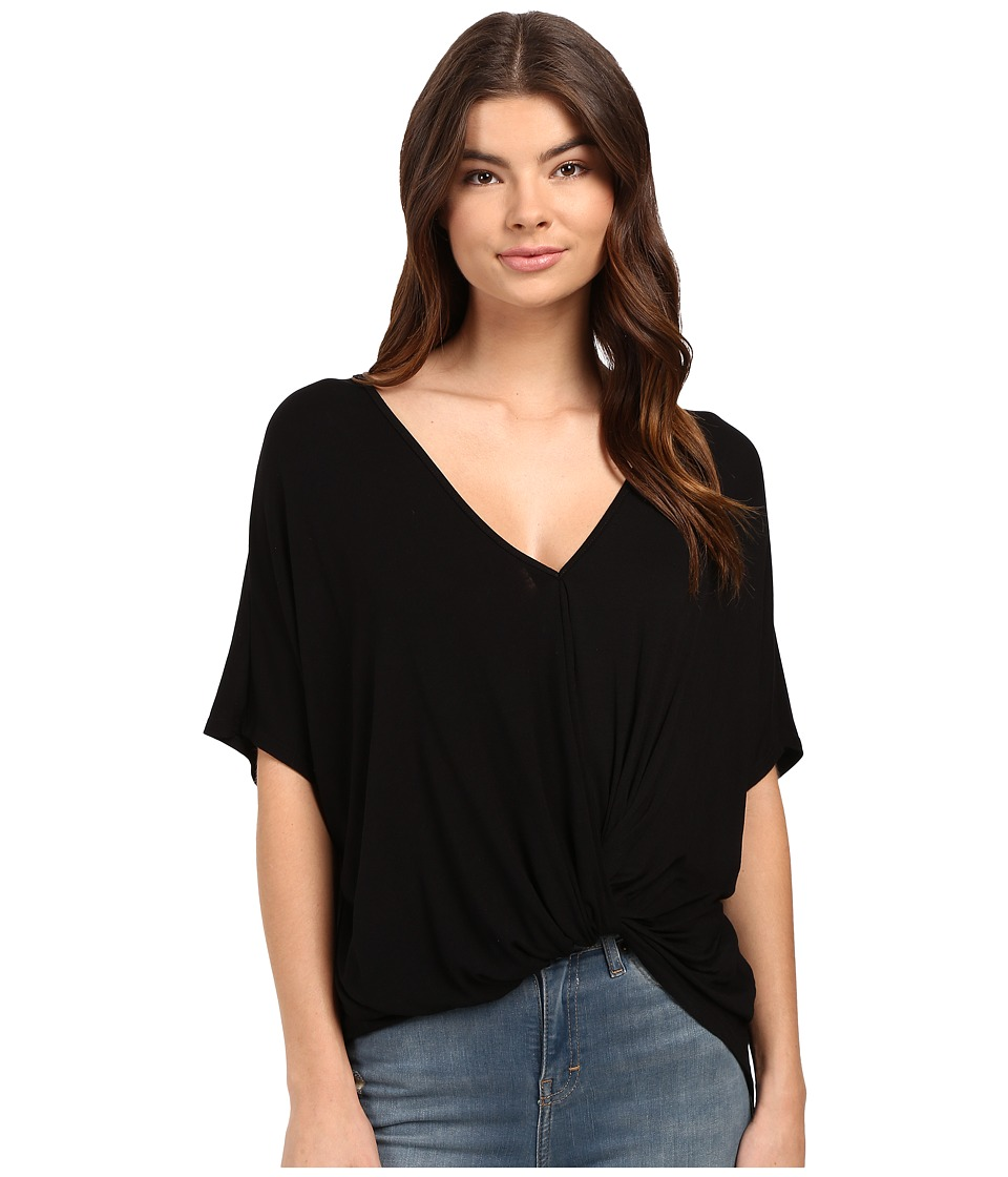 Culture Phit - Aziza Knot Detail Short Sleeve Top (Black) Women's Clothing